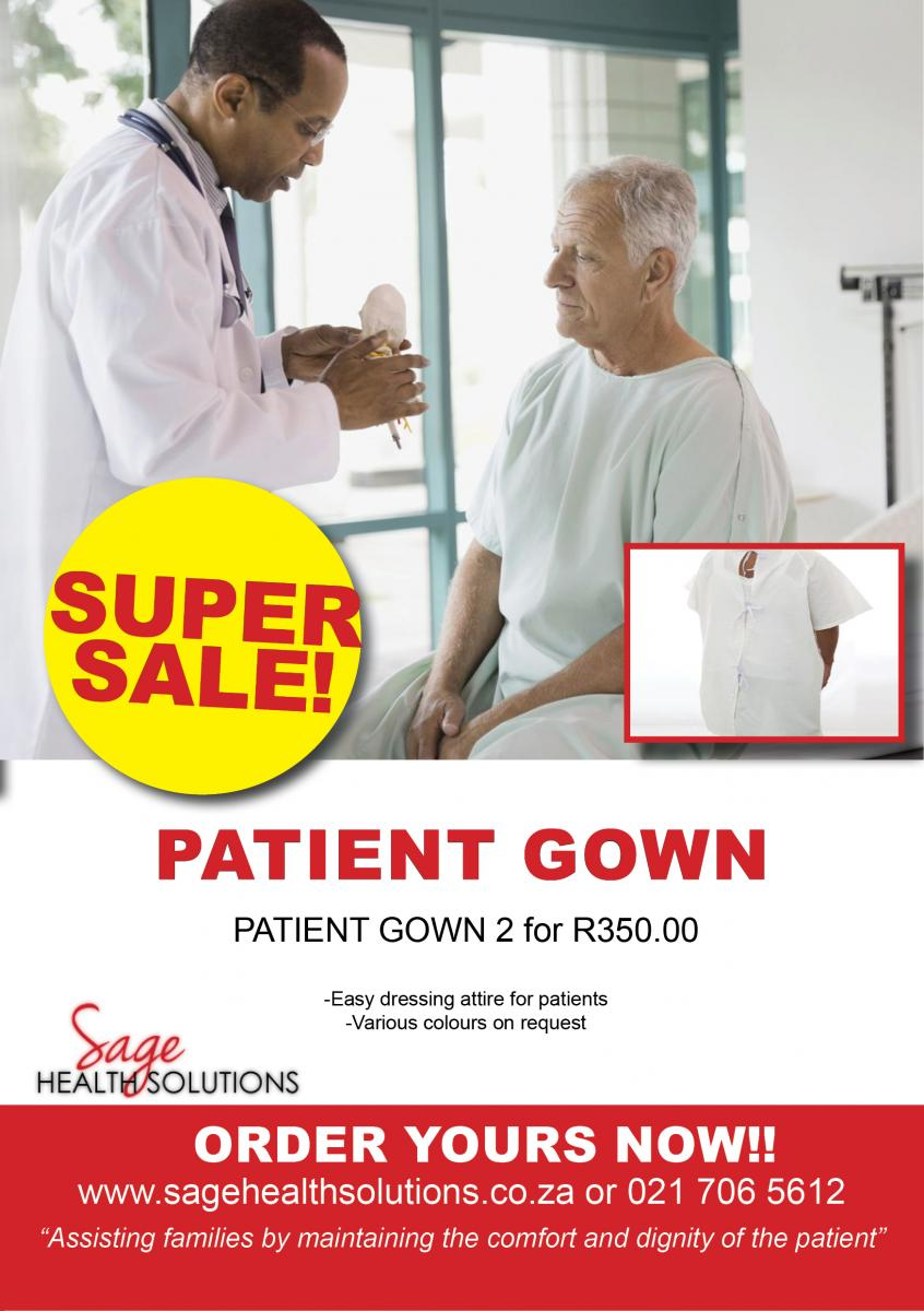 SUPER SALE: Patient and Hospital Gowns   Sage Health Solutions