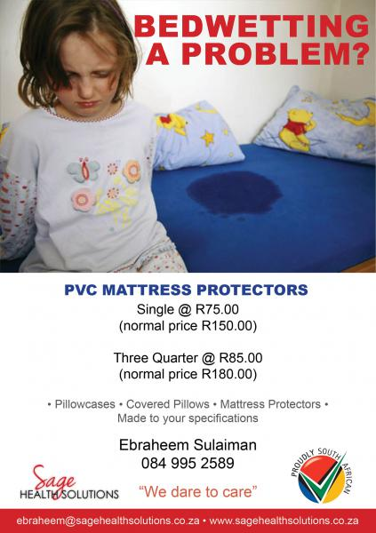 This is advert for the PVC Waterproof Mattress Protector.
